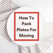 How to pack plates for moving house image