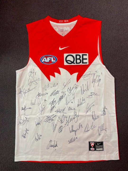 signed swans jersey